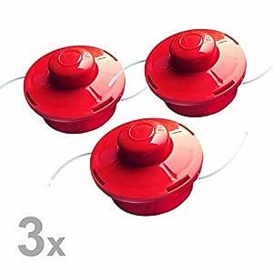 Nemaxx 3X FS2 Cabezal de Doble Hilo semiautomático - Cabezal de Corte de siega -Accesorios de Corte - Hilo de Nylon - Carrete para desbrozadora ...