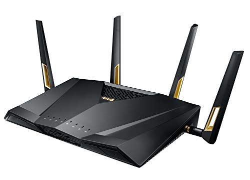 ASUS Quad-Core Wireless 802.11ax Dual Band Wi-Fi Adaptive QoS AX6000 Router (RT-AX88U)