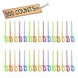 """Comicfs Plastic Cocktail Picks 3.5"""" Fruit Toothpicks Sandwich Appetizer Cocktail Sticks Party Supplies 300 Counts, Plastic Sword Cocktail Picks -26"""