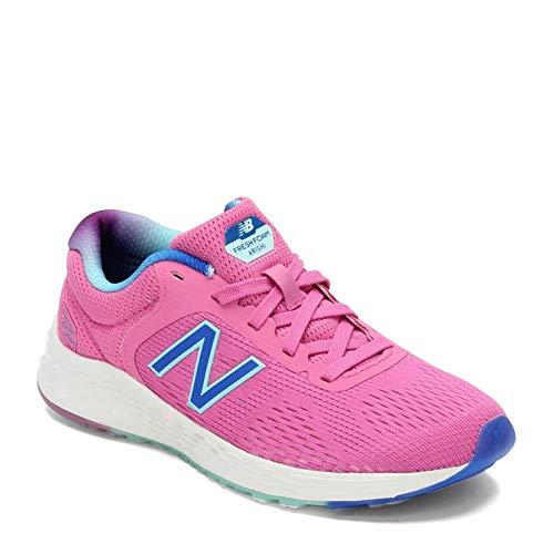 New Balance Kids' Arishi V2 Running Shoe, Light Carnival/Vivid Cobalt, 2 M US Little Kid