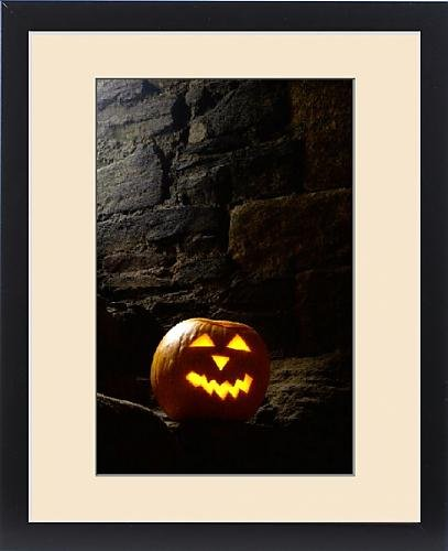 Framed Print of Halloween pumpkin N060892