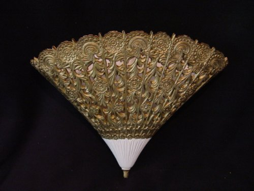 - Retro Plastic 60's Large Gold Wall Hanging Wall Sconce 13