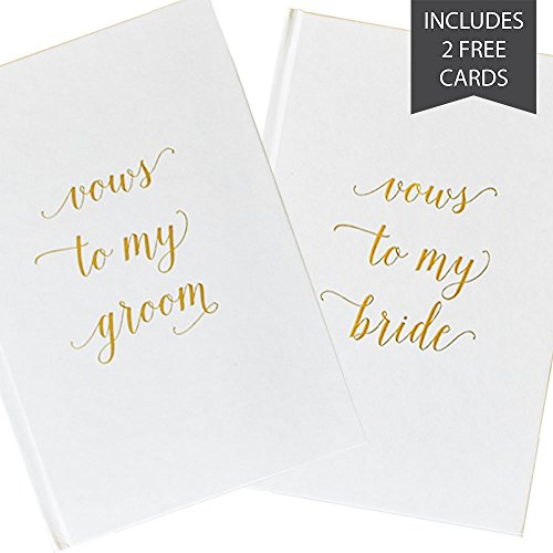 Sunday Favorites Wedding Vow Book | Includes 2 Free Wedding Day Cards | Gold Foiled Text