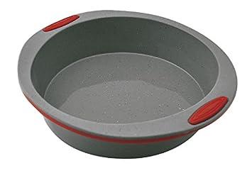 Jata Hogar Molde para repostería y Cocina, Silicona, modelo MC65, Gris y Rojo, 23 cm: Amazon.es: Hogar