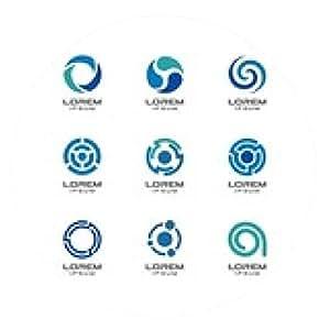 alfombrilla de ratón Conjunto de elementos de diseño de iconos. Ideas logo abstractos. - ronda - 20cm