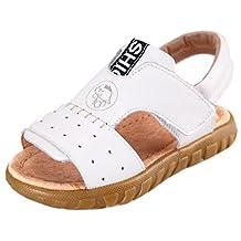 DADAWEN Boy's Girl's Summer Leather Breathable Outdoor Sports Sandals (Toddler/Little Kid/Big Kid)