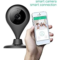 MiSafes WiFi Baby Pet Video Monitors 1280x720p Wireless Security Camera HD Remote Home Surveillance Indoor Cameras with 2 Way Audio Talk for iPhone iPad Android Samsung Sony LG (Black)