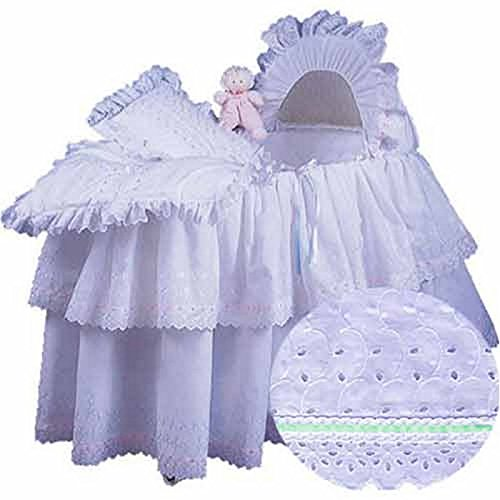 aBaby Little Angel Bassinet Skirt, Mint, Small