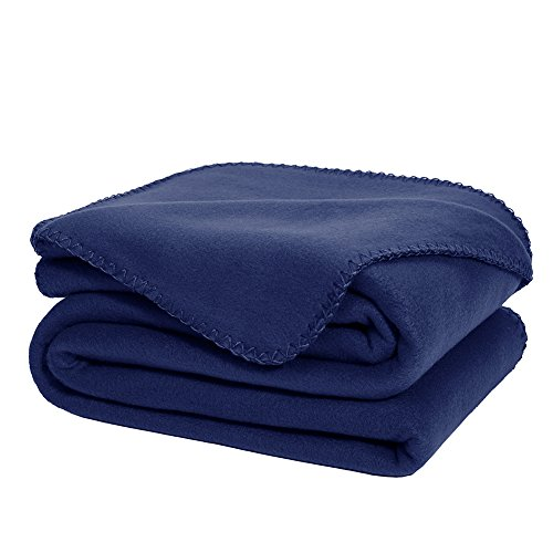 Make Fleece Throw Blankets - DOZZZ Oversize Flannel Fleece Throw Blanket 70 x 50 Fuzzy Plush Microfiber For Couch Cover Sofa Chair Bed Navy Blue