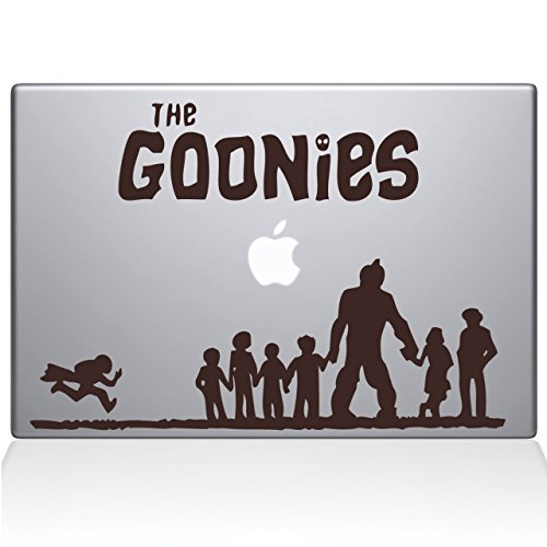 The Goonies Macbook Decal, Brown, Die Cut Vinyl Decal For Windows, Cars, Trucks, Tool Box, Laptops, Macbook- Virtually Any Hard, Smooth Surface ()