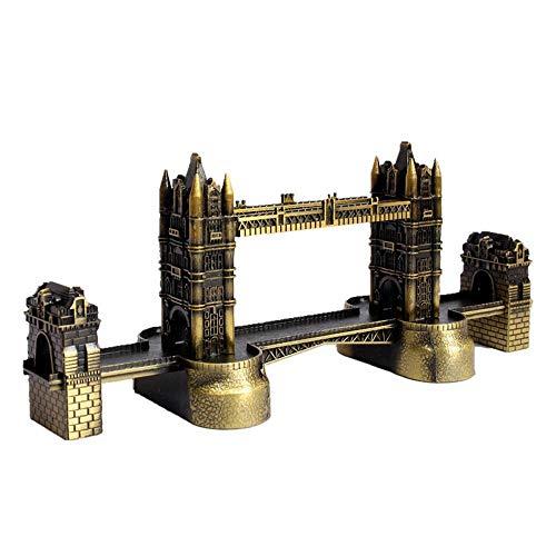 (lishirao London Tower Bridge Metal Model Ornaments Creative Home Retro Craft)