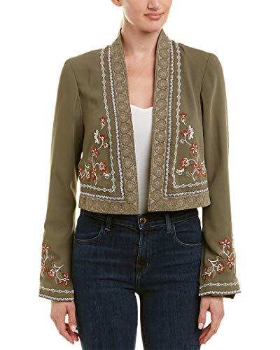 BCBGMAXAZRIA BCBG Womens Maxazria Embroidered Crop Jacket, L, ()