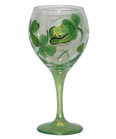 Shamrock Balloon Wine Glass Detail