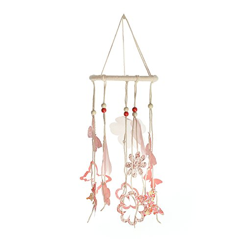 Roser Life Mobiles Handmade Hanging Mobile Coral Butterfly Flowers Decor (Pack of 1)