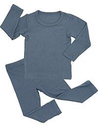 Newborn Baby Little Boys Girls Snug-Fit Pajamas Summer Winter Short/Long Sleeve Sets Pjs Kids Clothes