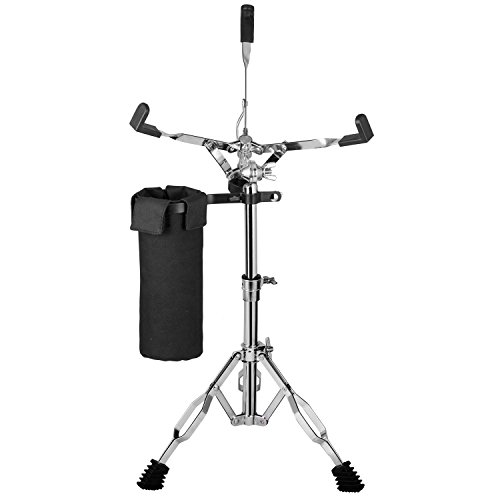 Snare Drum Stand - Luvay Snare Stand, Double Braced Lightweight (5lb) - with Stick Holder (Nylon Drumstick Bag)