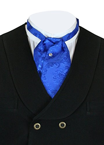 Historical Emporium Men's Satin Floral Puff Tie (Edwardian Halloween Butler)