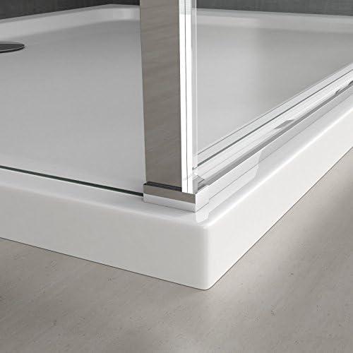 sogood Mampara 80 x 120 ducha pared ravenna57ms Marco de Aluminio ...