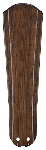 - Fanimation B5310WA Raised Contour Carved Wood Blade Set, 22-Inch, Walnut