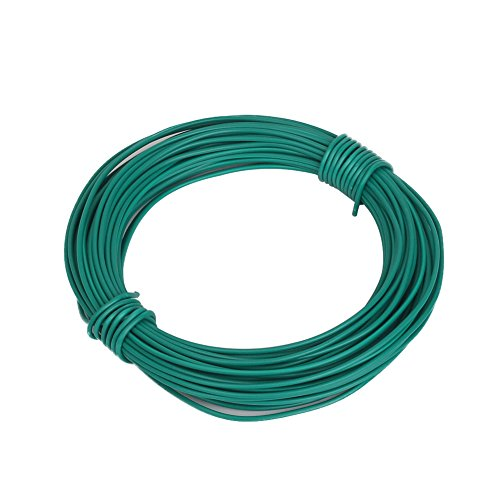 Shintop 50 Feet Sturdy Plastic Coated Garden Wire 1.8mm Plant Twist Tie Garden Training Wire (Green)