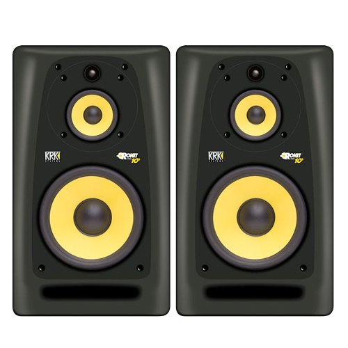 KRK Rokit Powered 10-3 Pair Mid-Field 3-Way Powered Studio Monitors - 10 Inch