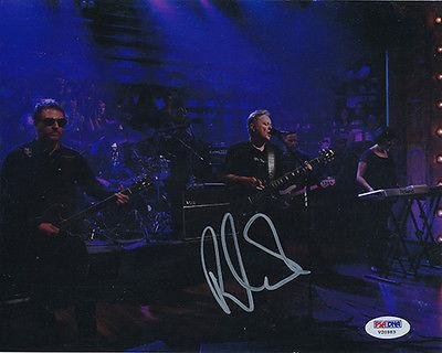 Signed 8x10 Photo Bernard Sumner (new Order) 2177 - PSA/DNA Certified - Autographed Soccer Photos by Sports...