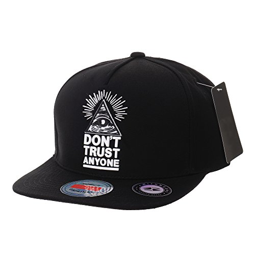 (WITHMOONS Snapback Hat Illuminati Patch Hip Hop Baseball Cap AL2390 (Black) )