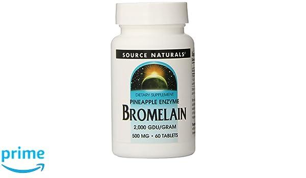 Source Naturals Bromelain, 500mg, 60 Tablets: Amazon.es ...