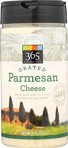 365 Everyday Value, Grated Parmesan Cheese, 8 Ounce