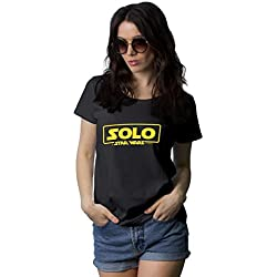 Decrum Black Womens Solo A Star Wars Story Shirt Outfit   Solo, XL