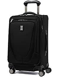 "Luggage Crew 11 21"" Carry-on Expandable Spinner w/Suiter and USB Port, Black"
