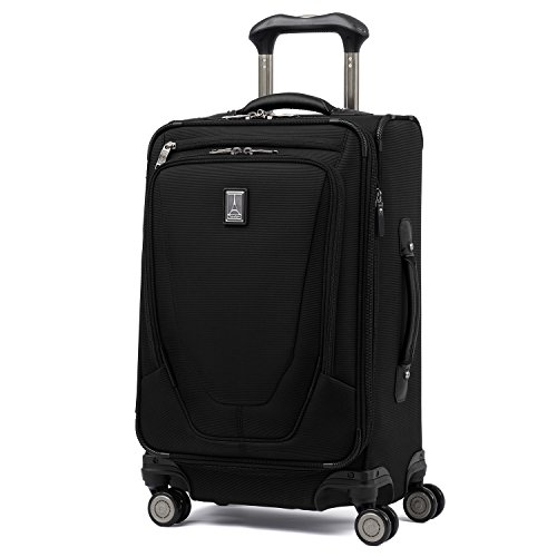 Travelpro Luggage Crew 11 20' Carry-on International Spinner w/USB Port, Black