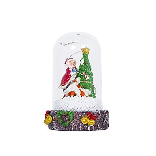 - Brave669 Christmas Light Santa Claus Snowman Desk Top Ornament Party Home Resin Decor