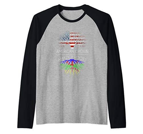 Amazigh Roots American Grown funny kabyle flag gift Raglan Baseball Tee