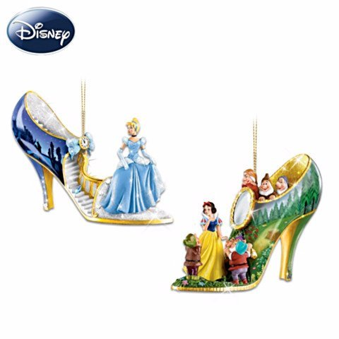 The Disney Once Upon A Slipper Shoe Ornament Collection Disney Princesses Collectible Ornaments