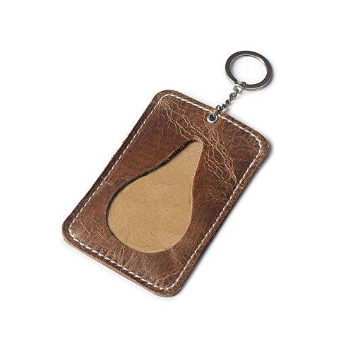 Leather Slim Key Ring Card Purse Credit Card Holder Id Card