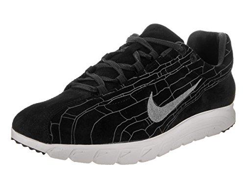 Nike Menns Døgnflue Lær Prm Mote Joggesko Svart / Svart-mørk Grå-lin