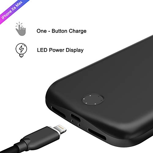 watch c0393 f9cf4 SHOPUS | Ztesy Battery Case for iPhone Xs Max, 6000mAh Capacity ...