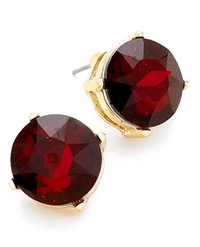 Red And Gold Tone Earrings - 3