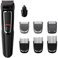 Philips Multigroom Series 3000 8-in-1 Face and Hair Cordless Trimmer with 8 Tools, Rinseable Attachments & up to 60 min…