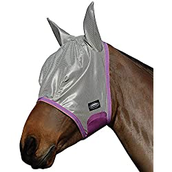 Weatherbeeta Comfitec Essential Mesh Mask (Full, Silver/Purple/Blue)