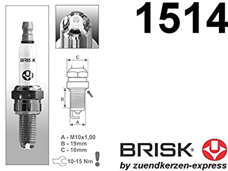 Brisk Premium Racing AOR12LGS 1514 Bujías de Encendido, 4 Piezas: Amazon.es: Coche y moto