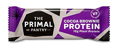 The Primal Pantry Veganer Paleo Protein Riegel - 15x55g (Kakao Brownie) - vegan, raw, laktosefrei, weizenfrei und glutenfrei, 15g protein riegel, vegan protein