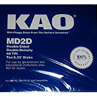 KAO MD2D Double Face 48TPI Floppy Disks Ten 5.25 Disks