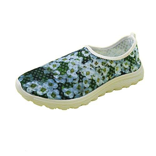 För U Designar Snygga Lätta Praktiska Mesh Sneaker Löparskor För Kvinnor Grön