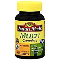 Nature Made Multi Complete Tablets - 130 ct, Pack of 2