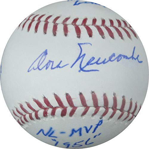 Don Newcombe Signed Ball - Stat Cy Young MVP ROY - Autographed Baseballs