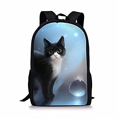 durable service Sannovo Dreamy Watercolor Cat Children School Bags Cartoon Animal Girl Backpack