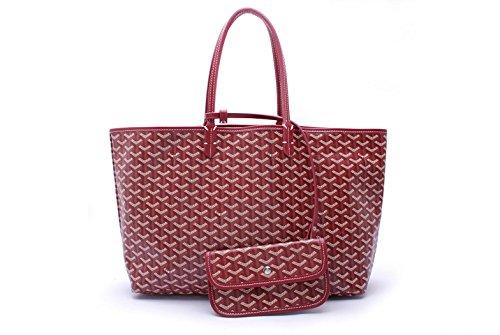 Fashion Bag Set (Agote Women Fashion Shipping Shoulder Tote Bag Set(Burgandy))