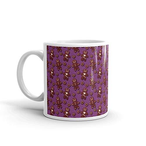 Halloween Gingerbread Pattern Nonna Favorite Drink Mug Ceramic Cup 11oz